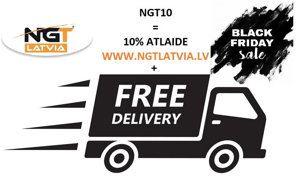 NGT10 - kods 10% atlaide, + bezmaksas piegāde