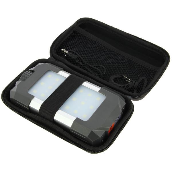 21LED+6red LED gaismeklis ar 10400mAh Powerbank bateriju