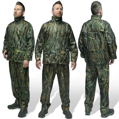 Divdaļīgais tērps pret lietu un vēju Camo