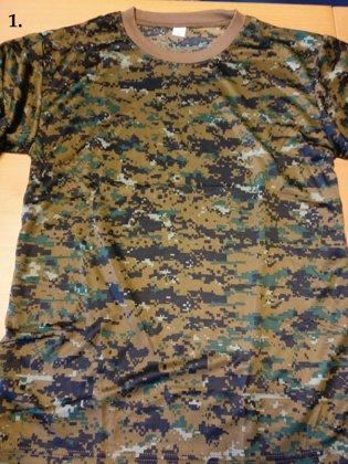 T-krekls Kamuflāžas 5 veidi