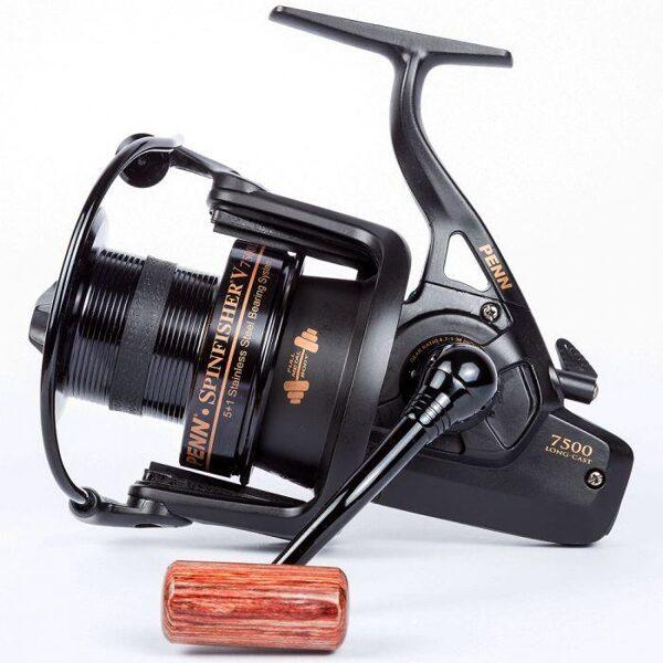Penn Spinfisher V 7500 Longcast Melna Spole