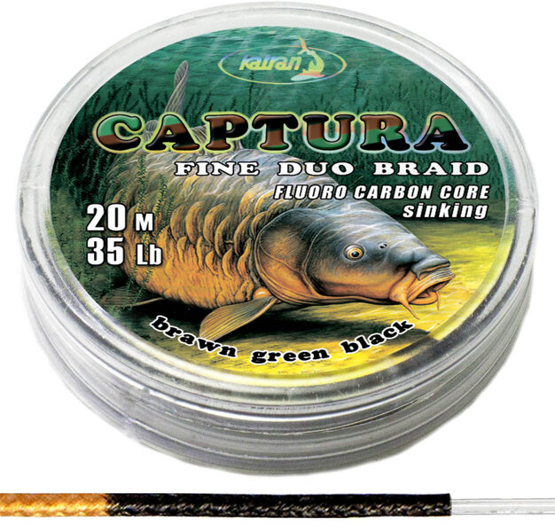 KATRAN Captura duo braided hooklink 20lb 25lb 35lb