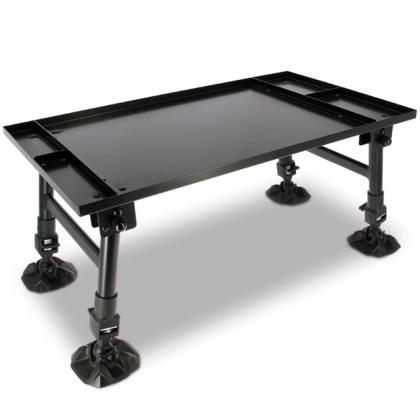 Makšķerēšanas, tūrisma galdiņš dynamic ar dubļu kājām un papildus nodalījumiem.