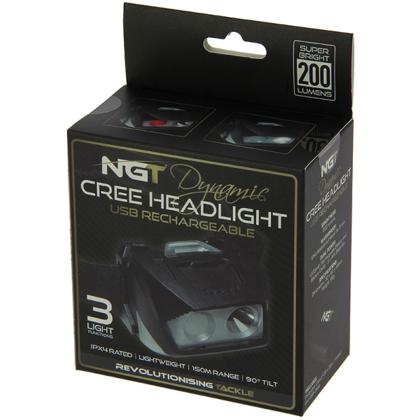 NGT Dynamic Cree gaisma 200 lumēnu ar usb uzlādi