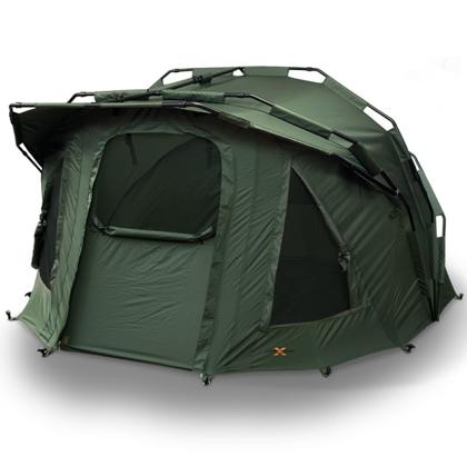 2-vietīgā telts Fortress ar papildus jumtiņu