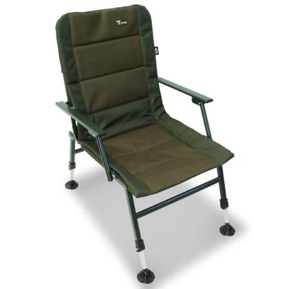 Ērts tūrisma krēsls ar roku balstiem